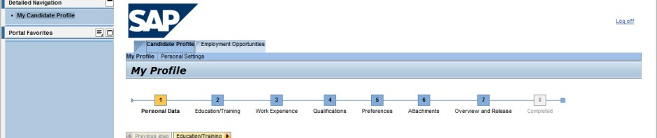 How to integrate internal SAP E-Recruiting applications into